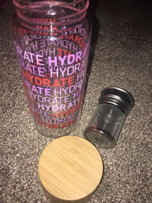 Glass water bottle//would love it gone quick for Sale in Verona, NY