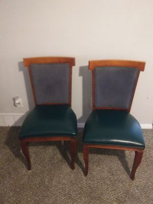 Wooden blue chairs (2 left) for Sale in Maple Heights, OH