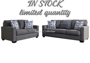 New Sofa and Loveseat Set, Grey, SKU# ASH1450438/35TC for Sale in Santa Fe Springs,  CA