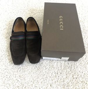 Gucci brown suede shoes.... US 8.5 men's 100% REAL AND AUTHENTIC for Sale in Edgewater Park, NJ