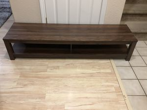 Brand New Low TV Stand Console Table Brown Wood Entertainment Center for Sale in Hood, CA