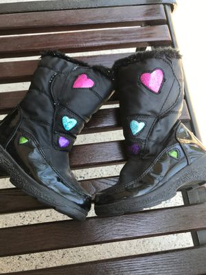 Totes size 9 Lil kids snow boots for Sale in Huntington Beach, CA