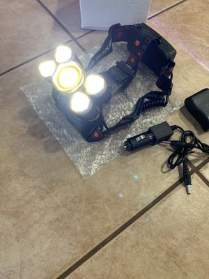 New 5 Light LED Rechargeable Head Lamp/Work Light for Sale in Fresno, CA