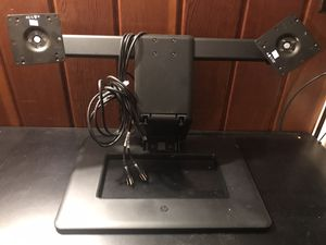 HP Adjustable Dual Monitor Stand (black) for Sale in Falls Church, VA
