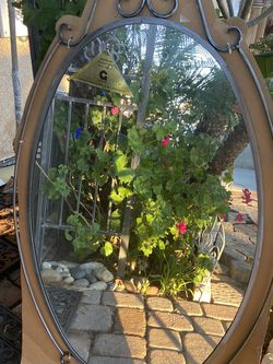 Beautiful Handmade Wrought Iron Oval Mirror for Sale in Whittier,  CA