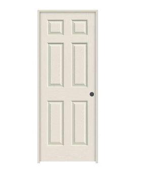 JELD-WEN 28 in. x 80 in. Colonist Primed Left-Hand Textured Solid Core Molded Composite MDF Single Prehung Interior Door for Sale in Industry, CA
