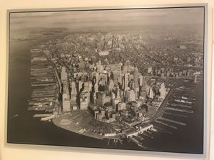 New York Ariel View of Lower Manhattan Framed Photo for Sale in Chicago, IL