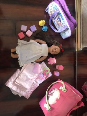 GIRL DOLL AND ACCESSORIES for Sale in Irvine, CA