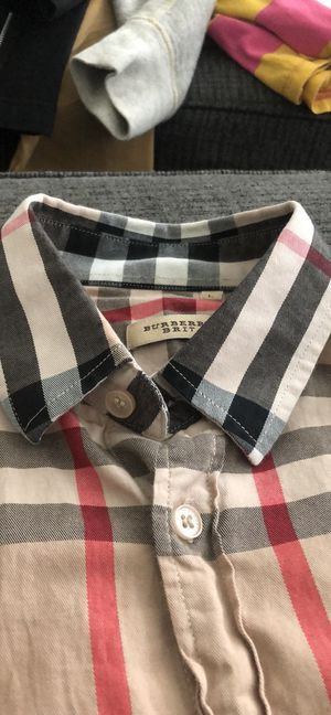 Woman's long sleeve Burberry shirt for Sale in Raleigh, NC