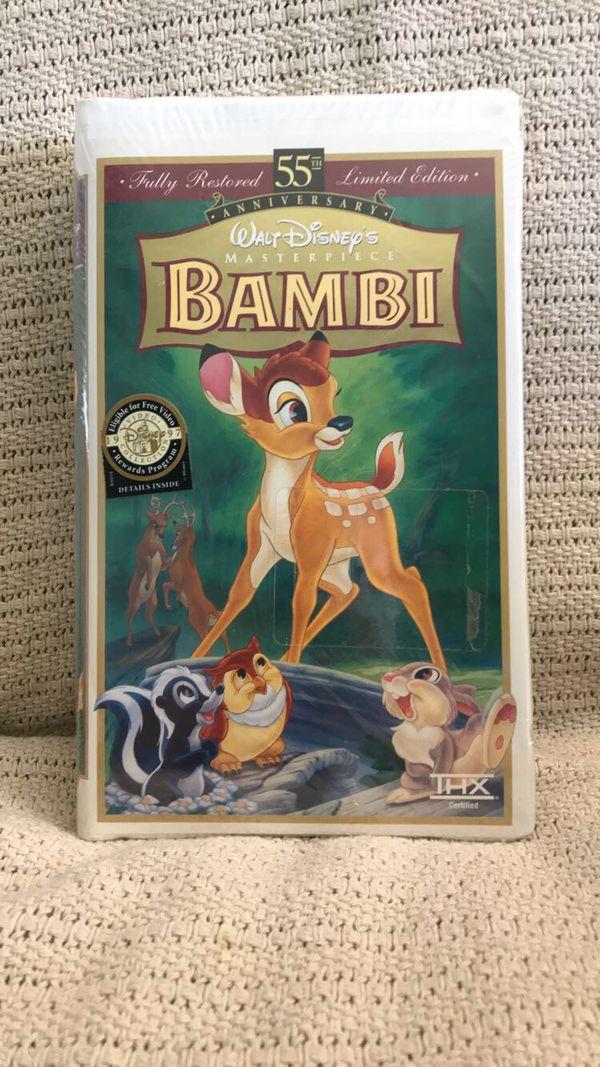 Unopened 1997 Bambi Vhs