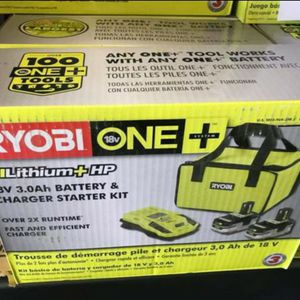RYOBI 18V COMBO KIT 2-3.0AH BATTERIES AND FAST CHARGER for Sale in Turlock, CA