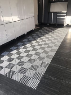Patio, Garage, Deck interlocking tiles. Brand new in boxes. Gray color for Sale in Fife, WA