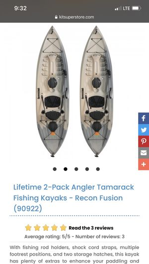 Two brand new fishing Kayaks for Sale in Clairton, PA
