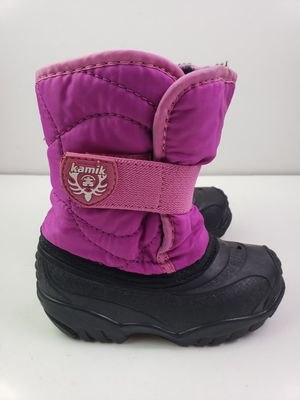 Kamik Toddler Pink Girls Slip On Winter Snow Boots Size 8 for Sale in Walton Hills, OH
