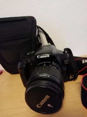 Canon EOS 1100D with lenses and bag for Sale in Sacramento, CA