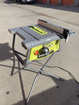 """RYOBI 10"""" TABLE SAW with folding STAND for Sale in Pomona, CA"""