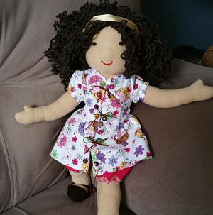 Children toy hand made rag doll waldorf doll gift decorative doll for kid's room for Sale in Tampa, FL