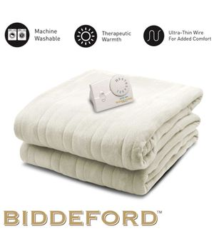 Comfort Knit Natural Sherpa Electric Heated Blanket Twin Natural for Sale in Queens, NY