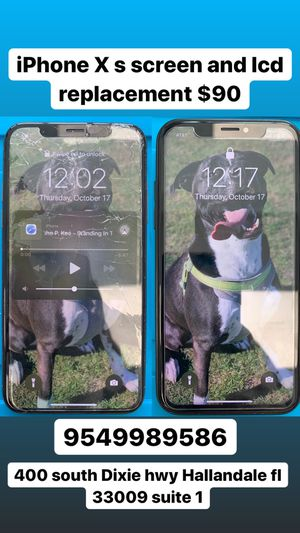 iPhone X s screen and lcd replacement only $90 for Sale in Pembroke Park, FL