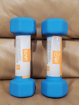 CAP Barbells 2 Piece Neoprene Blue Dumbbells, 2lbs for Sale in Oxnard, CA