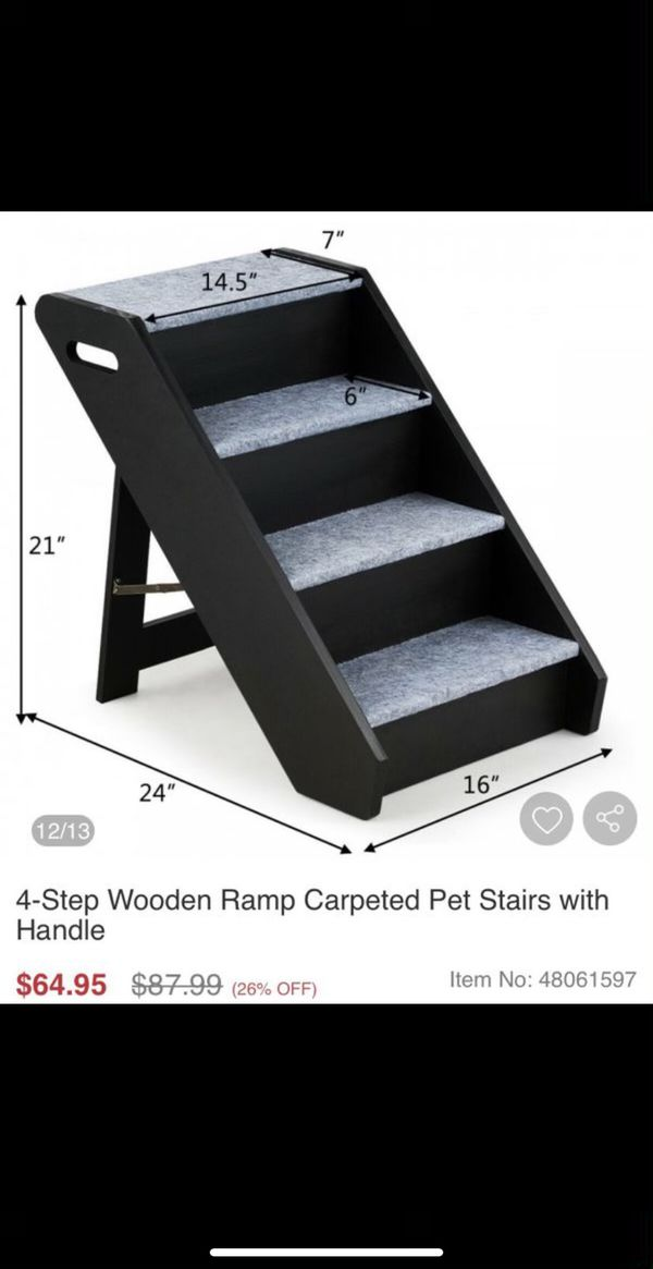 NEW 4-step wooden dog ramp