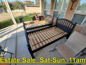 Twin Bed Frames. $125 Each. Estate Sale. Saturday 11am - $125 (1307 N. Applegate Fresno for Sale in Fresno, CA