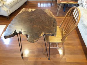 Solid Walnut Live Edge Breakfast Table for Sale in Troy, MO