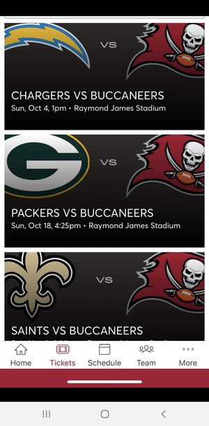 TAMPA BAY BUCS SEASON TICKETS for Sale in Tampa, FL