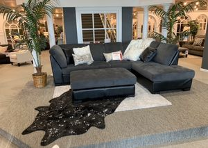 Comfy black and grey sectional $999 $54 down delivers! for Sale in Tukwila, WA