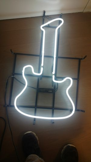 Guitar neon light. Stands at 2 n half ft tall. And is 2ft wide. for Sale in New York, NY