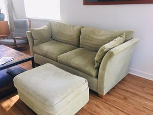 Couch and ottoman for Sale in Grayslake, IL