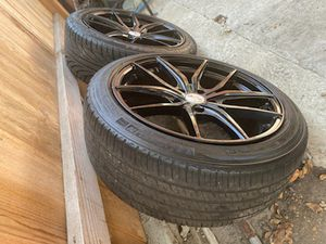 Black Size 18 Rims . for Sale in Los Angeles, CA