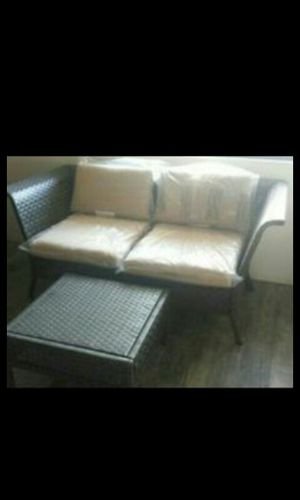 Modern Wicker Couch ( Can be 2 Chairs ) & Table Brand New for Sale in Walnut, CA