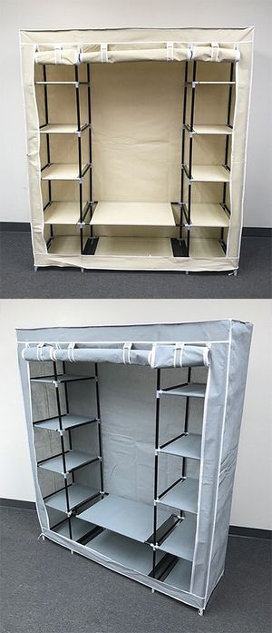 "New $35 each Fabric Wardrobe Closet Storage Clothes Organizer 60x17x68"" (3 Colors) for Sale in South El Monte, CA"