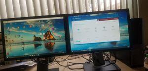 Like new twin Dell 20inch monitor for Sale in Delray Beach, FL