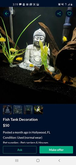 Fish Tank And Buddha for Sale in Hollywood,  FL