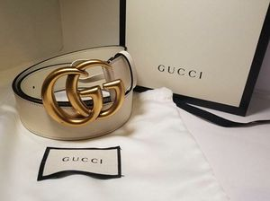 Gucci White GG Marmont 1.5 Inch Belt for Sale in Queens, NY