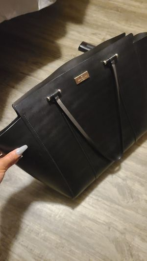 Kate Spade Black leather handbag with matching wallet for Sale in Monroe, NC