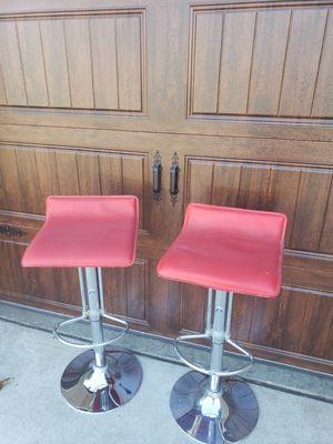 2 barstools. Hydraulic swivel chairs for Sale in Murrieta, CA
