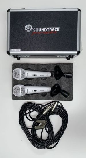 Set of two professional wired microphones. Brand new. Perfect for churches, bands, singers, and Karaoke. for Sale in Doral, FL