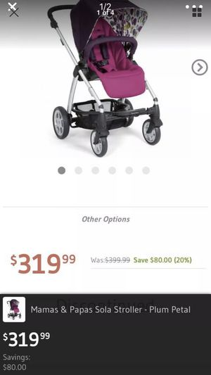 Mamas and papas Sola Baby girl Plum stroller for Sale in Washington, DC
