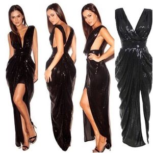 Long Evening gown dress (black) for Sale in Wixom, MI