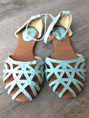Mint Colored Jewels Sandals for Sale in Anaheim, CA