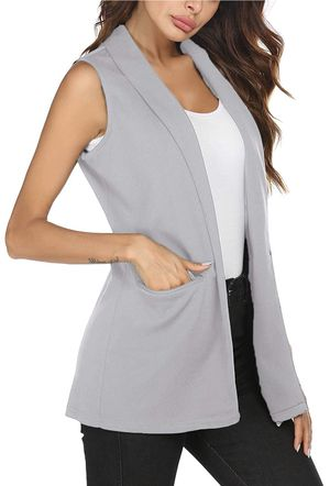 Brand new! Women's sleeveless Casual Open Front Trench Coat Jacket Pocket ( M) for Sale in Renton, WA