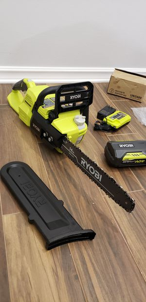 Ryobi 14in 40v chainsaw for Sale in San Diego, CA