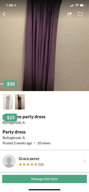 Two tone purple party dress for Sale in Bolingbrook, IL