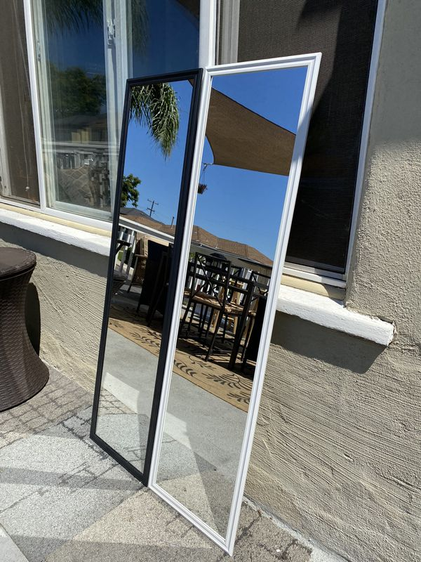 """White/black mirror 49.5"""" x 13.5"""" Great for rooms & make up. Can deliver San Diego county $5-$10"""