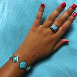 Turquoise Bracelet And Ring (size 8) for Sale in Boston, MA
