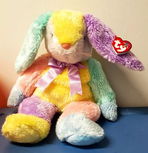 Ty BEANIE BUDDY DIPPY the RABBIT Plush PASTEL MULTICOLOR Stuffed Animal 2003 for Sale in San Diego, CA