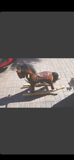 LIGHTLY USED PLUSH ROCKING HORSE (KIDS) for Sale in Delray Beach, FL